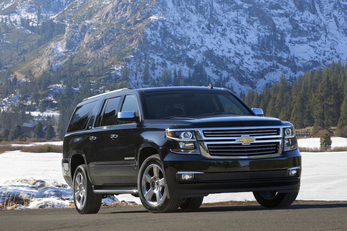 first drive 2015 chevy suburban remains the benchmark 2015 chevrolet suburban in black front. Black Bedroom Furniture Sets. Home Design Ideas