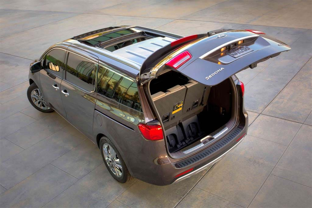 The Kia Sedona Gets A Full Makeover For 2015 Giving It More Interior Cargo  Space Than