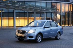 The Datsun on-DO is the brand's first offering in Russia. It is a four-door, five-seat family sedan.