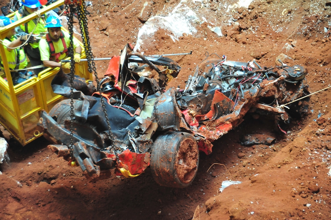 final corvette extracted from museum sinkhole final sinkhole corvette. Cars Review. Best American Auto & Cars Review