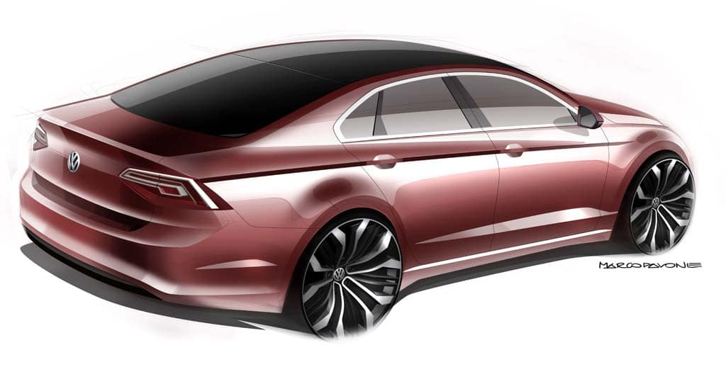 Vw Set To Unveil New Midsize Coupe Concept In Beijing Vw Midsize