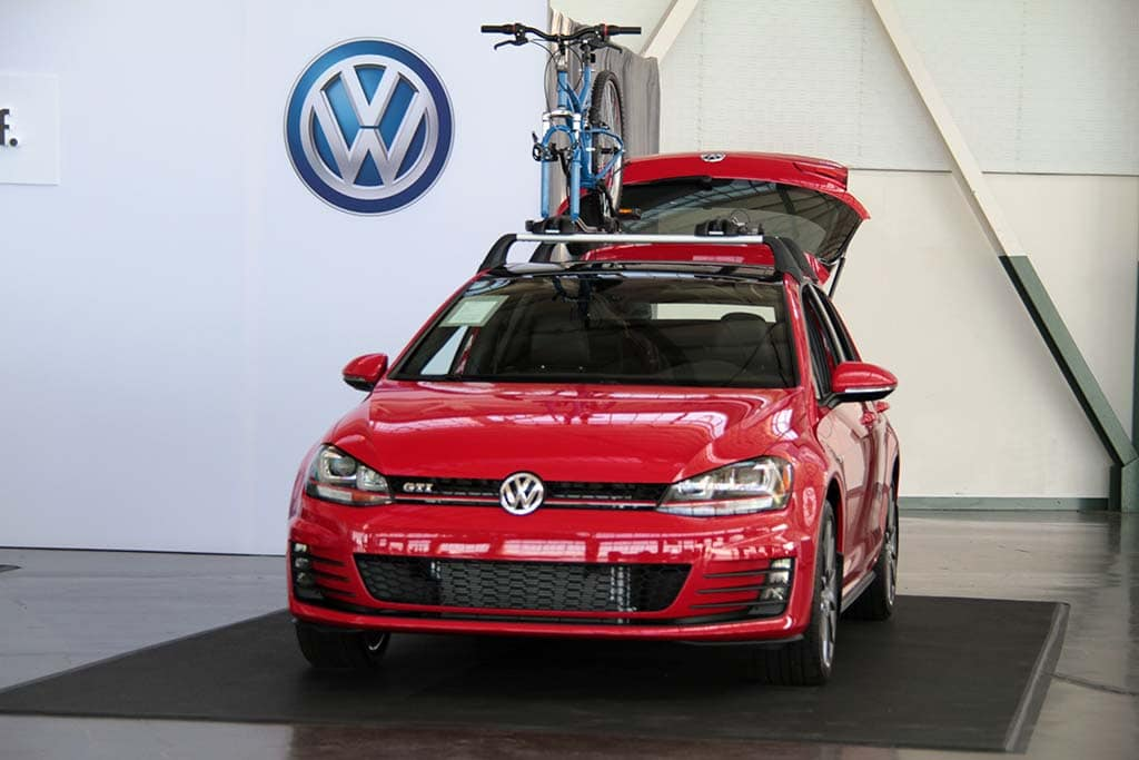 First Drive 2015 Volkswagen Golf And Gti 2015 Vw Gti With Vw Sign