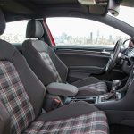 The familiar plaid of the VW GTI interior.
