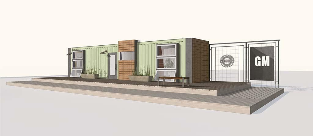 Gm aids program to turn shipping containers into new homes - Turning shipping containers into homes ...