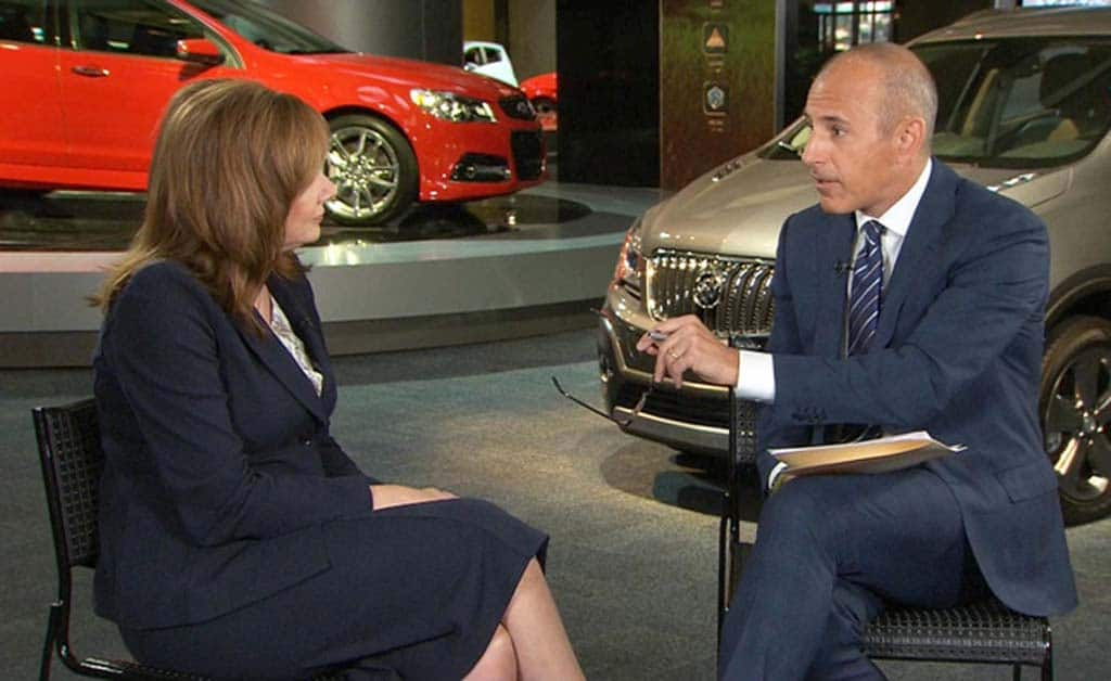 "Lauer Creates Furor Over ""Mom"" Question for GM's Barra"
