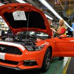 The 2015 Ford Mustang is built at on a flexible production line, which allows the maker to produce the Ford Fusion at the same time.