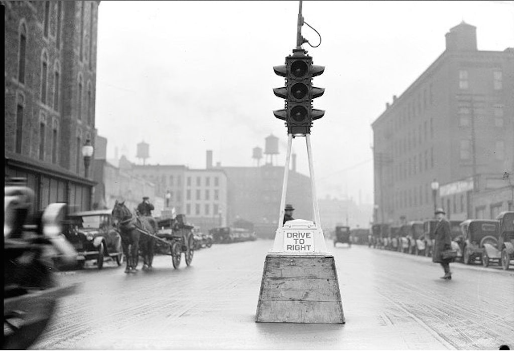 first traffic light