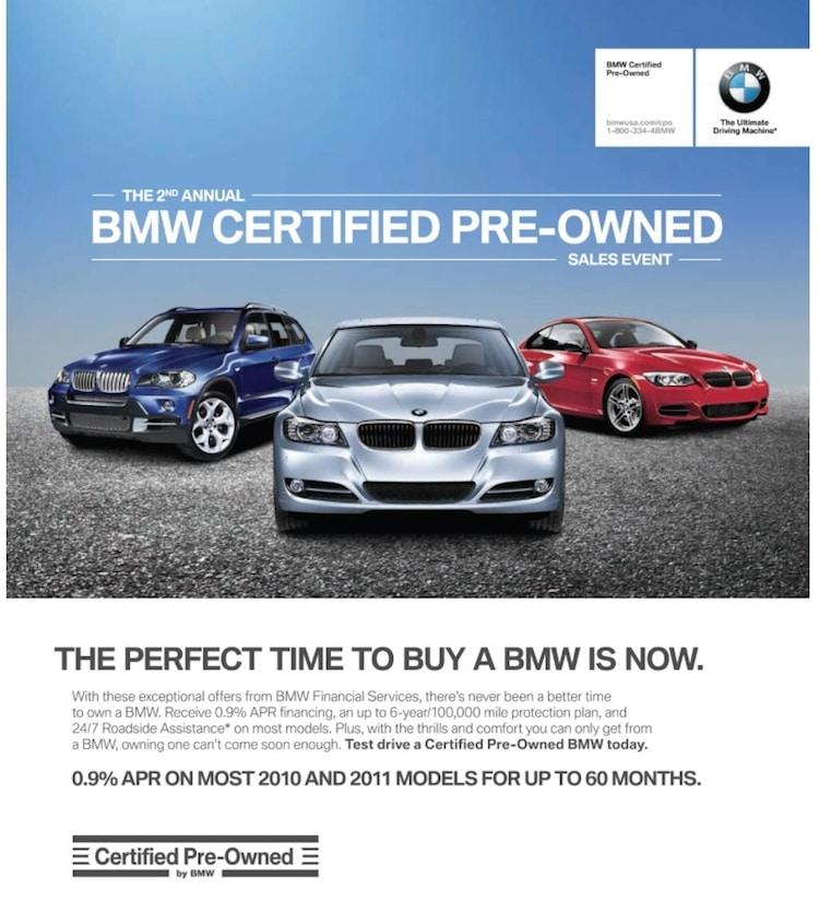certified pre owned vehicle sales hit a record bmw cpo ad. Black Bedroom Furniture Sets. Home Design Ideas