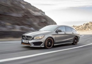 The Mercedes-Benz CLA 45AMG utilizes all-wheel drive.