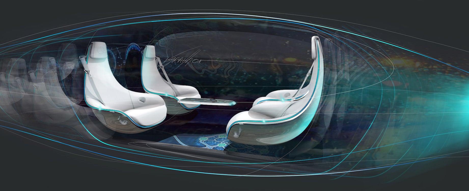 mercedes hints at driverless car interiors mercedes autonomous interior two. Black Bedroom Furniture Sets. Home Design Ideas
