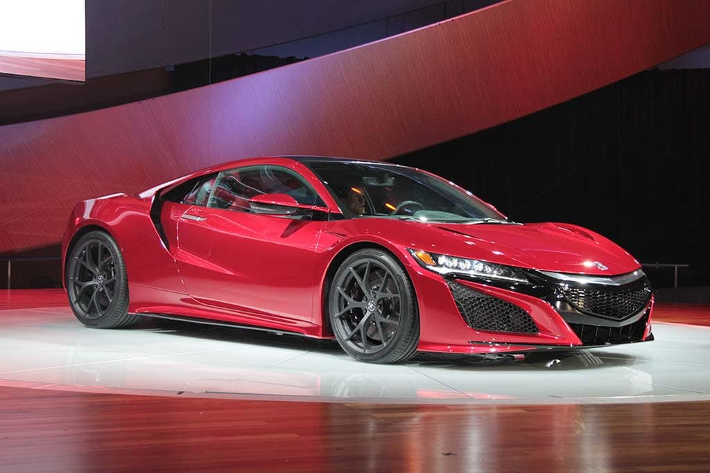 All New Acura NSX Rockets into Detroit 2016 Acura NSX