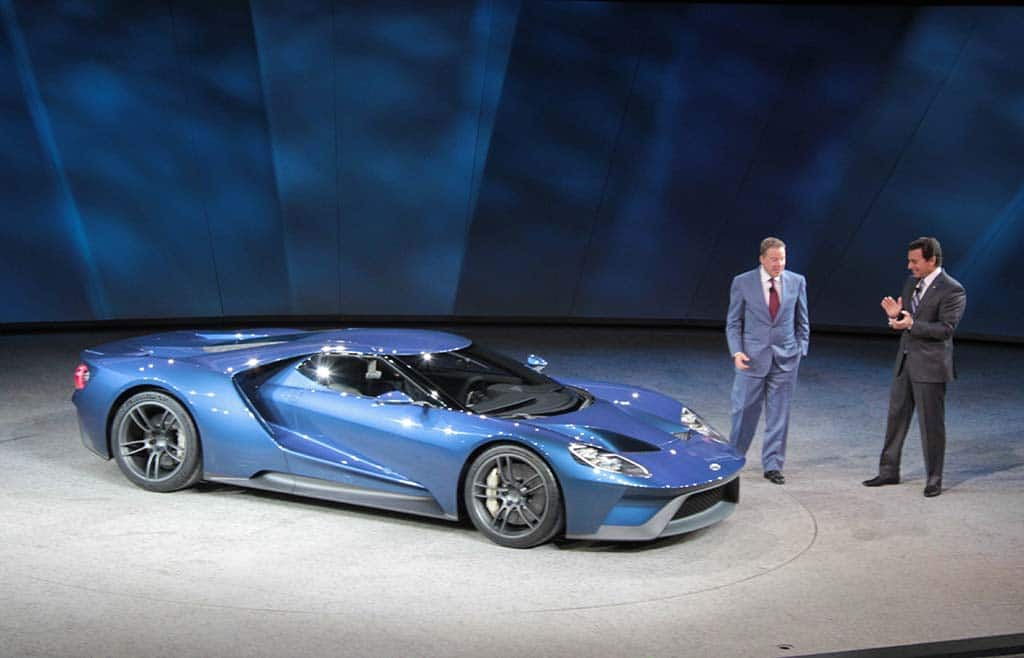 Ford Chairman Bill Ford And Ceo Mark Fields Unveiled The New Ford Gt Supercar At The