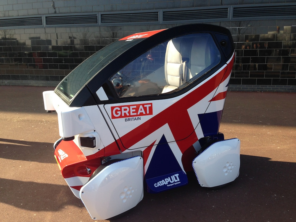 Two Seat Autonomous Car Backed By Nearly 30 Million In Government Funding Great Britain Will Test Out Four Diffe
