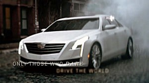 A scene from a Cadillac ad that ran on the Oscars promoting the new CT6 sedan.