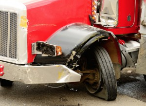 The tires used by tractor-trailers are only rated for 75 mph. If driven faster than that, they can rupture.