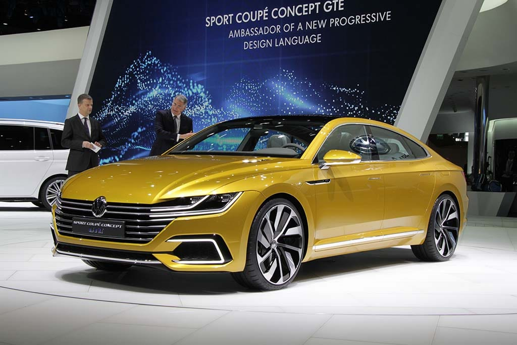 Volkswagen Launched Its New Sport Coupe Concept GTE At The Geneva Motor  Show To Show The