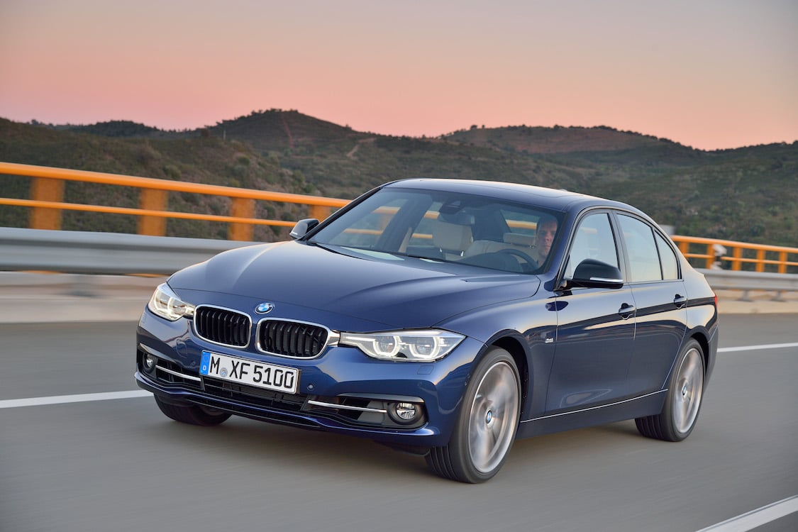 bmw updates iconic 3 series for 2016 2016 bmw 3 series front. Black Bedroom Furniture Sets. Home Design Ideas