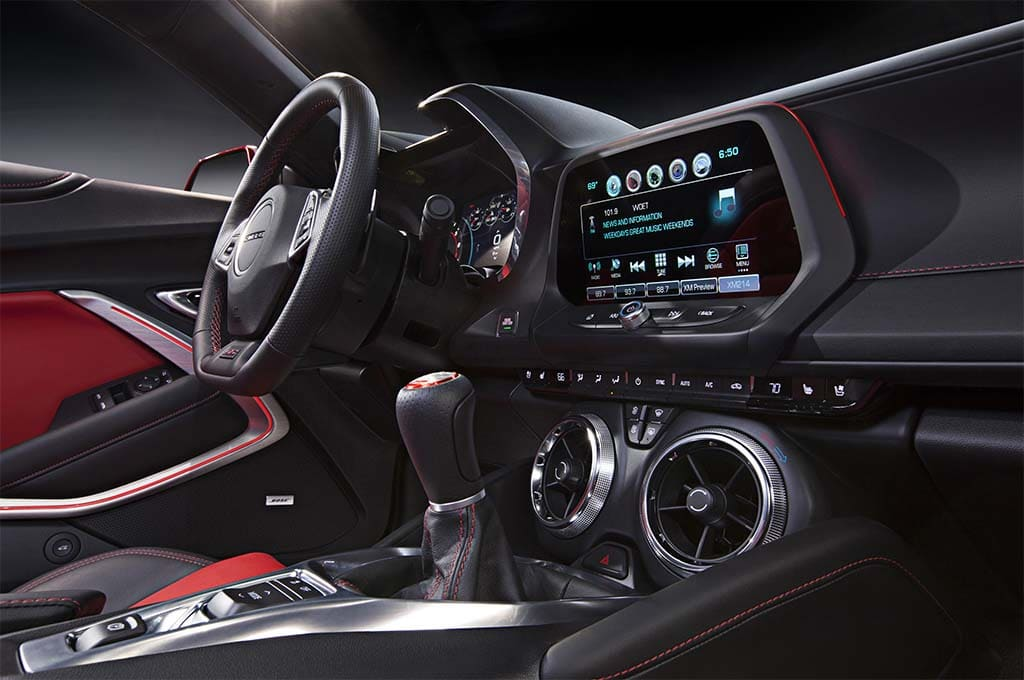 ... interior. Chevy upgrades the cockpit noticeably with the 2016 Camaro