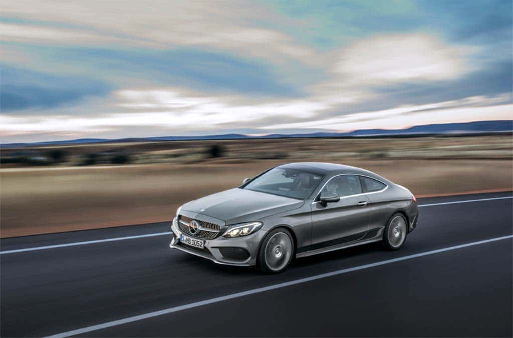 Mercedes offers first look at new c class coupe for Mercedes benz c class offers