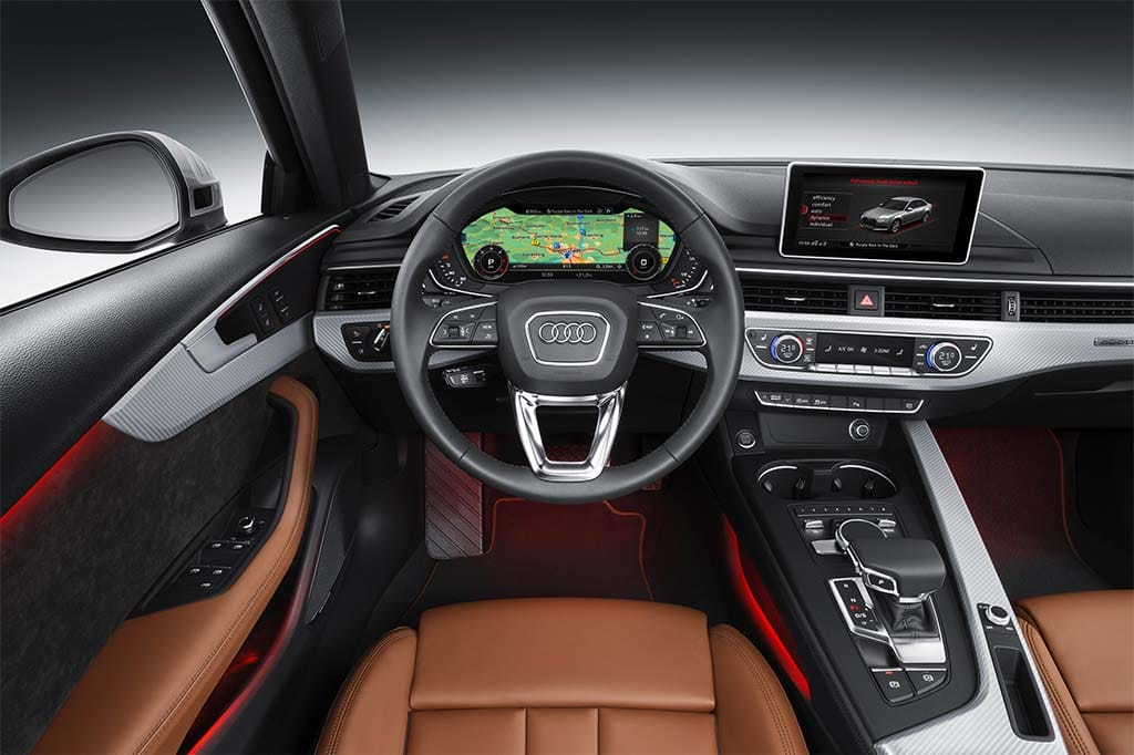 2016 Audi A4 Interior With Reconfigurable Display