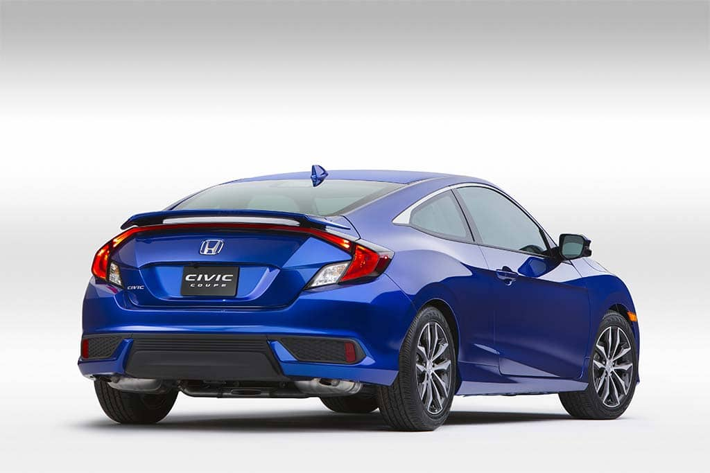 The 2016 Civic Coupe Features A More Steeply Raked Roofline Than Old Two Door