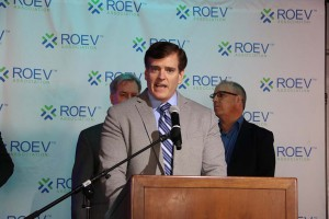 Rob Healey speaks at ROEV announcement, LA Auto Show, 11.19.15.