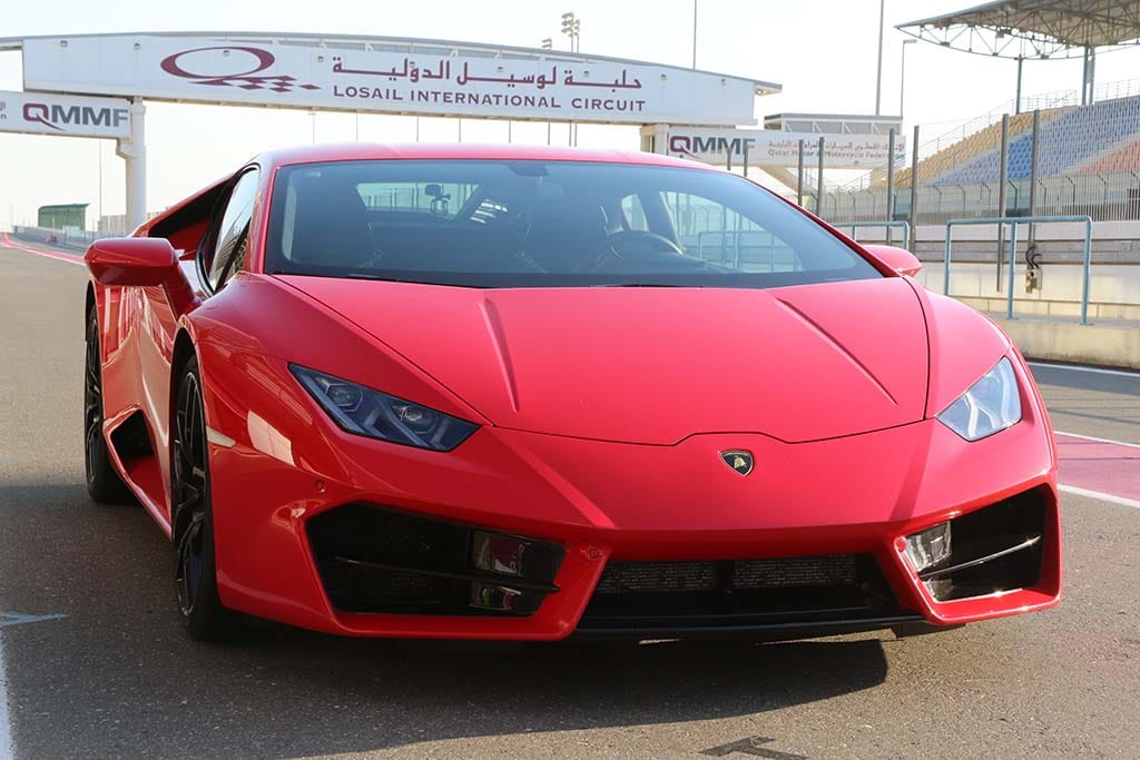 Lamborghini Huracan Lp580 2 Red With Track Sign Lamborghini