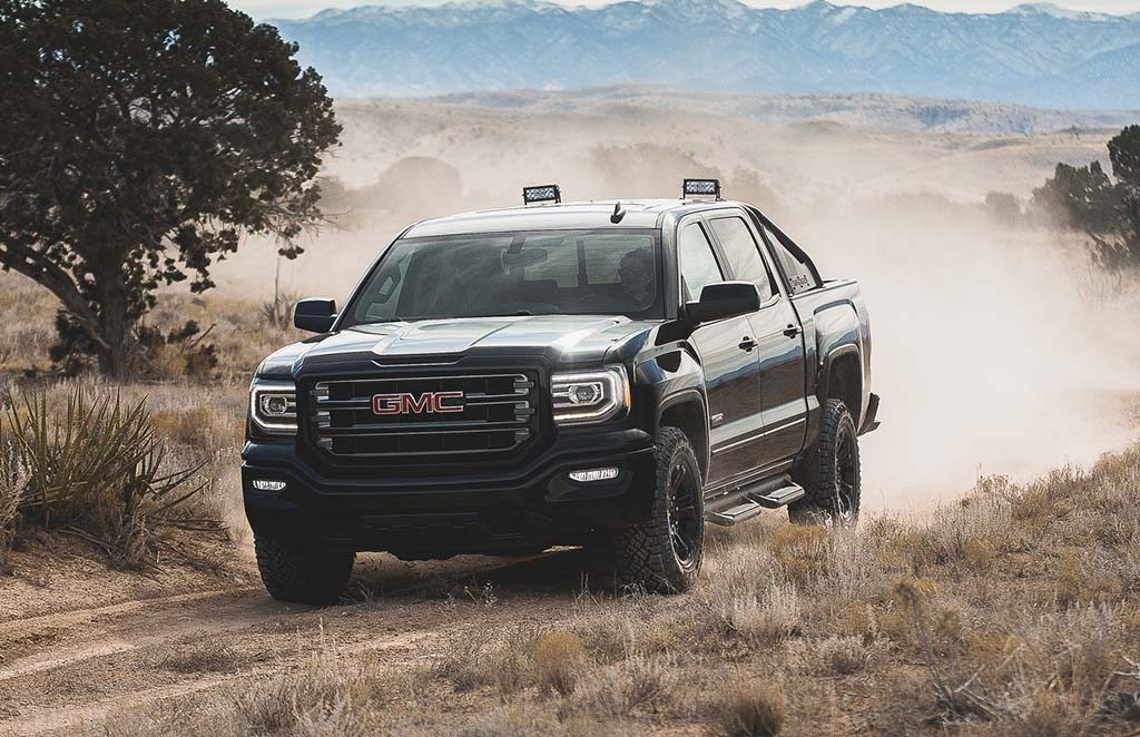 gmc says x marks the spot with new sierra all terrain x. Black Bedroom Furniture Sets. Home Design Ideas
