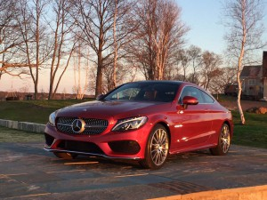 2017 Mercedes-Benz C-Class Coupe - front 3-4 - on island