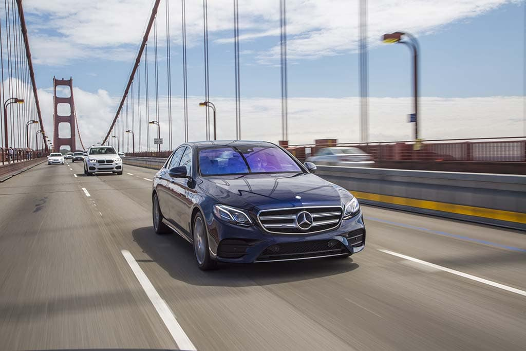 Automakers enter gray zone as they roll out semi for Mercedes benz of goldens bridge