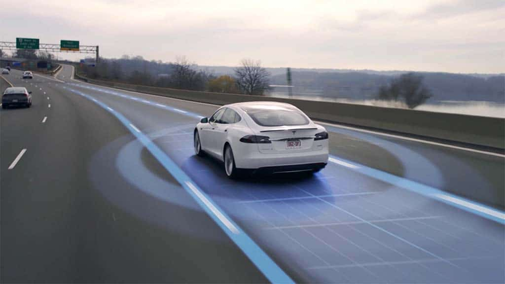 Tesla Autopilot - illustration
