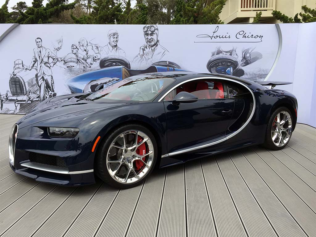 bugatti chiron makes first us public appearance. Black Bedroom Furniture Sets. Home Design Ideas