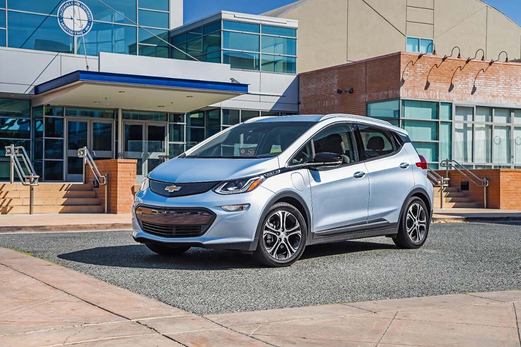 chevy bolt tops tesla model 3 with 238 miles range
