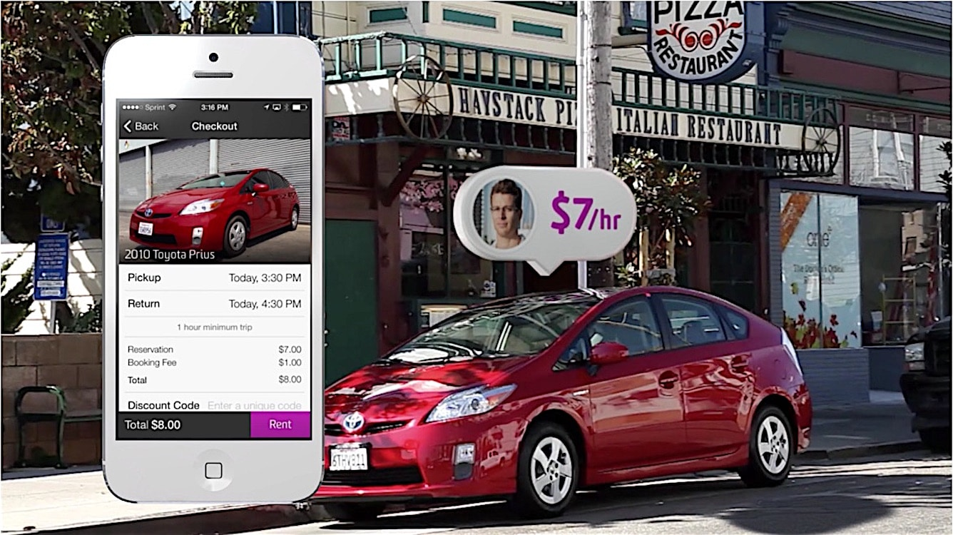 Toyota Gets Piece of Car-Sharing Startup
