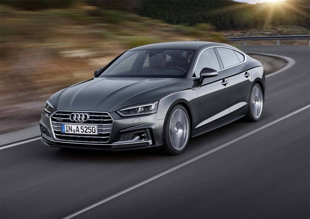 audi gets sporty with new a5 and s5 sportback. Black Bedroom Furniture Sets. Home Design Ideas