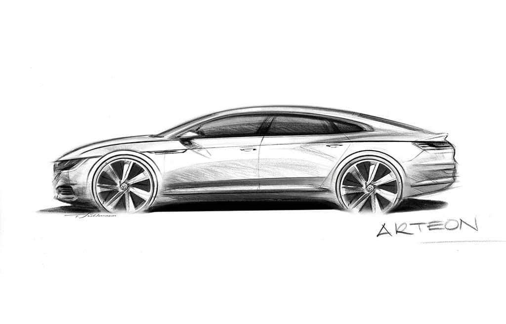 VW Teases New Premium Fastback for U.S., Global Markets