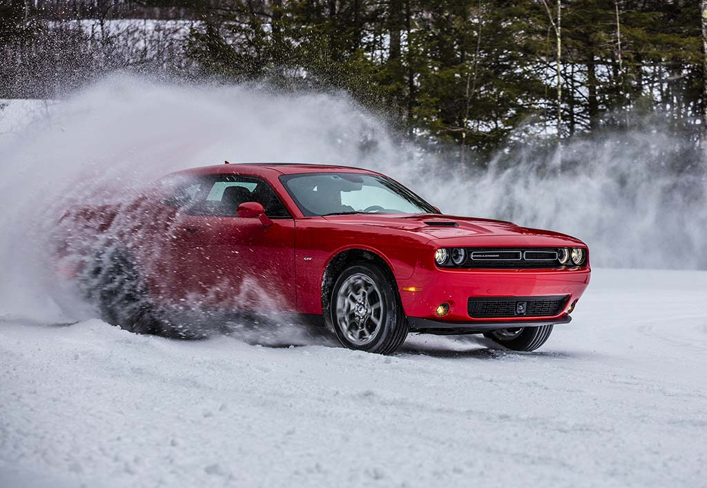Snowbound: Dodge Challenger GT Weathers the Storm