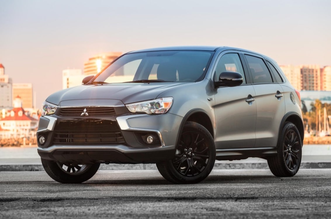 mitsubishi taking covers off new outlander sport in. Black Bedroom Furniture Sets. Home Design Ideas