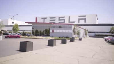 Tesla Fremont California plant exterior