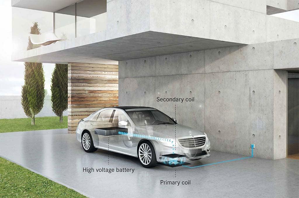 Mercedes-Benz S550e - wireless charging schematic