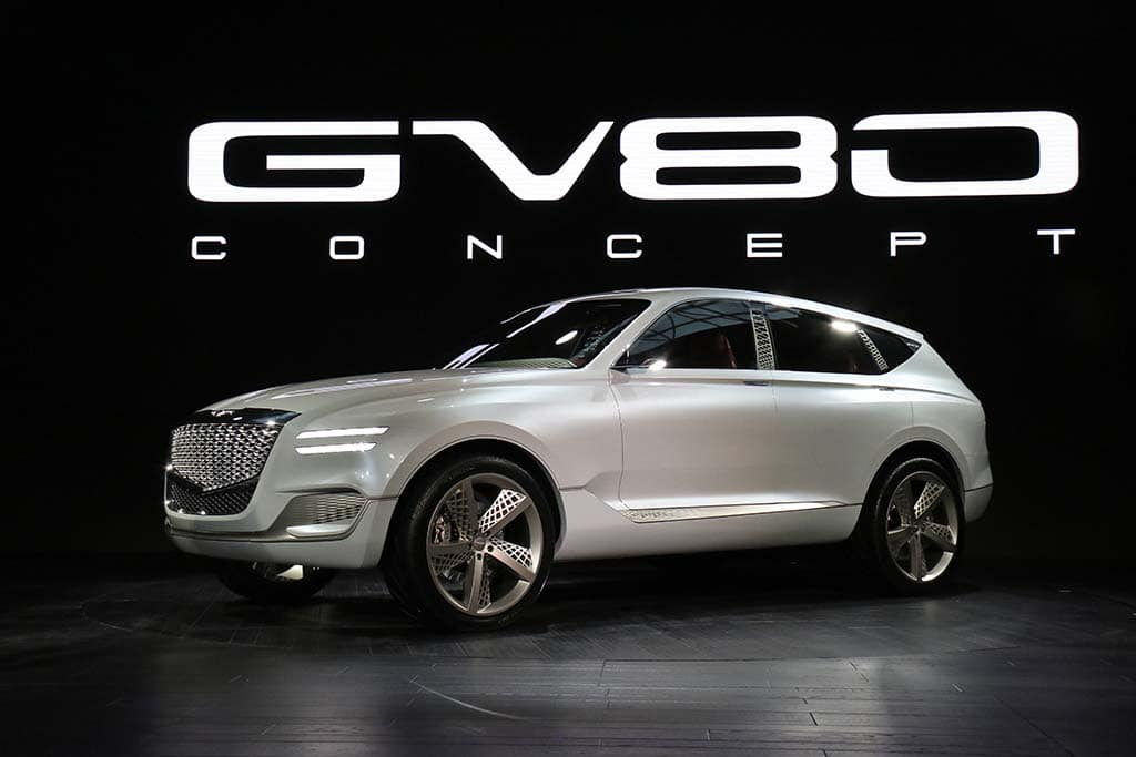 genesis hints at future with hydrogen hybrid gv80 suv. Black Bedroom Furniture Sets. Home Design Ideas