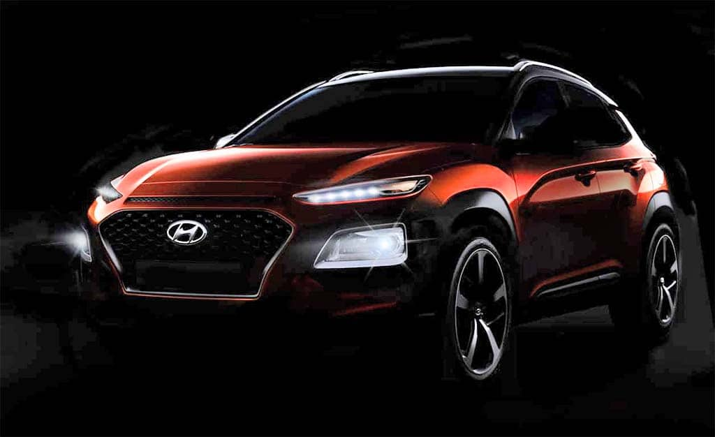 hyundai kona first look at new subcompact suv. Black Bedroom Furniture Sets. Home Design Ideas