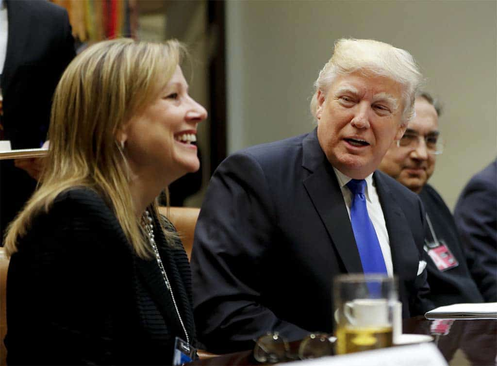 GM CEO Mary Barra Meets with President Trump