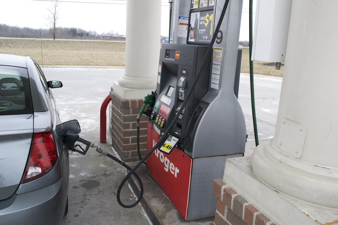 Gas prices continue freefall