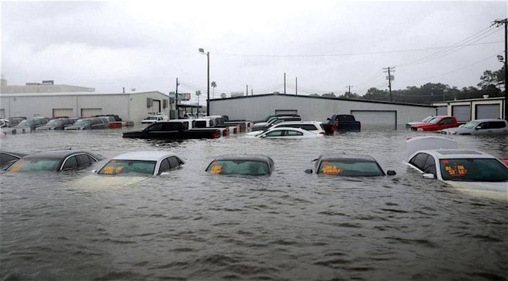 Texas dealership flooding