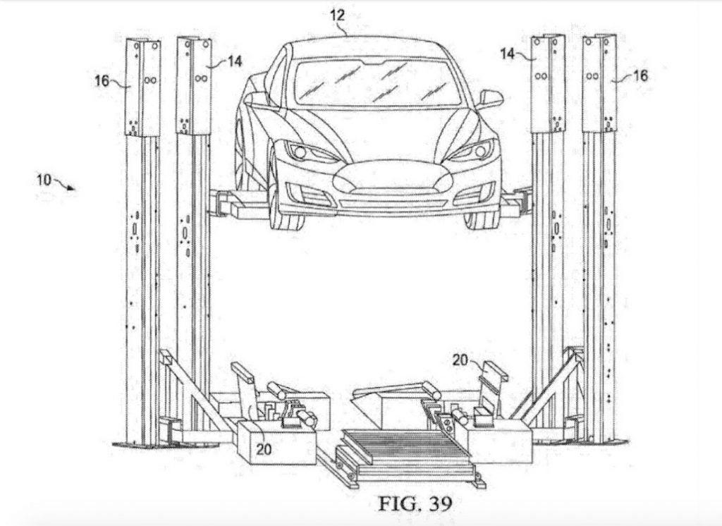 Tesla battery swap diagram