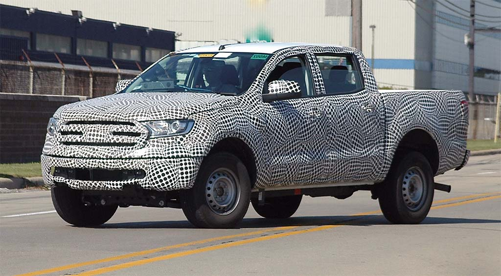 Spied: Nearly Naked 2019 Ford Ranger
