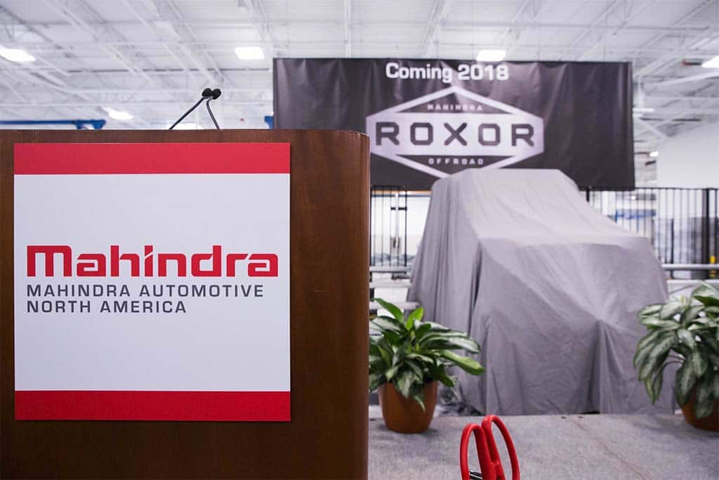 Mahindra to build off-road vehicle in Auburn Hills