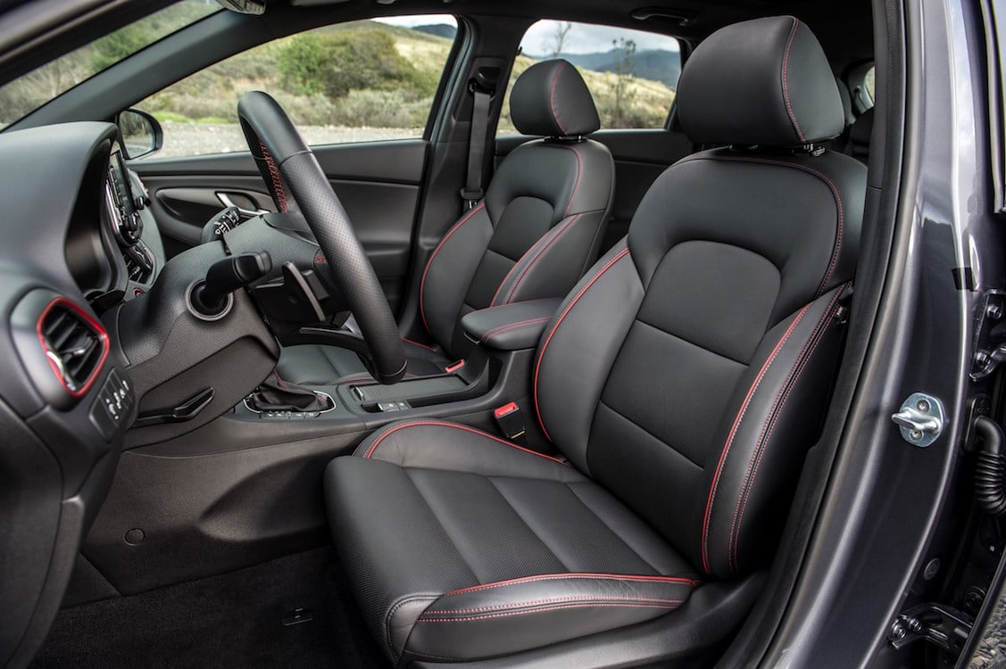 The Interior Of Elantra GT Sport Is Comfortable And Spacious For A Compact  Car.