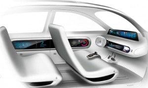 Apple iCar interior sketch